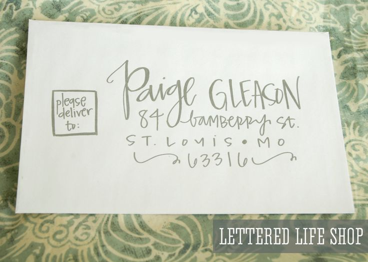 Wedding Calligraphy Envelope Addressing - Silver Modern Calligraphy. $2.00, via Etsy. //