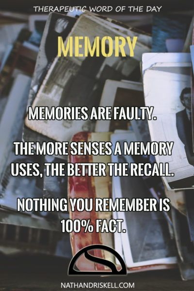 Memory is tricky. Sometimes we feel we remember things, others we are foggy and unsure. Truth is, we never remember what really happened. Our brains do not process every sensation. As memories fade, so does truth.  #memory #life #truth http://nathandriskell.com