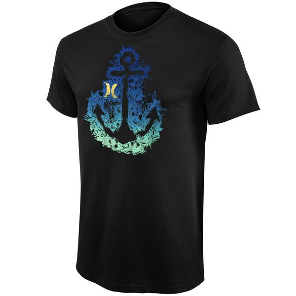 Mens Hurley Black Nature Of It Premium T-Shirt