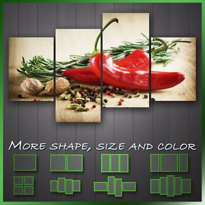 Herbs And Spices Kitchen Art U0027 Modern Kitchen Wall Art Deco Canvas