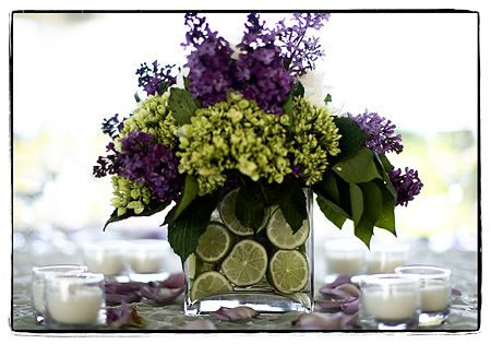 Fruit Centerpieces: fruit gives a twist to a centerpiece and can make the table smell sweet. Good fruits to use that will stay firm are grapes, melon, apricots and pineapple....lime, lemons or oranges if used should be put in iced water.