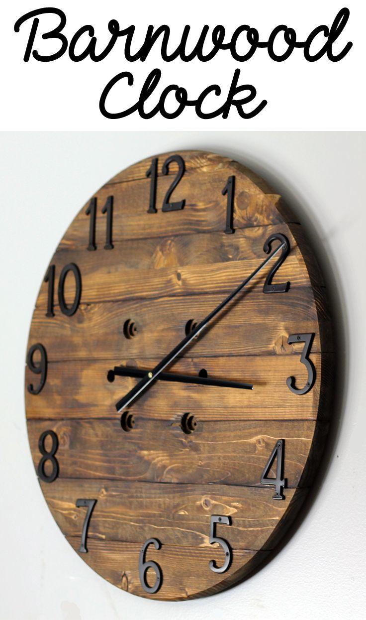 Best 25 wood clocks ideas on pinterest pallet clock for Clock ideas