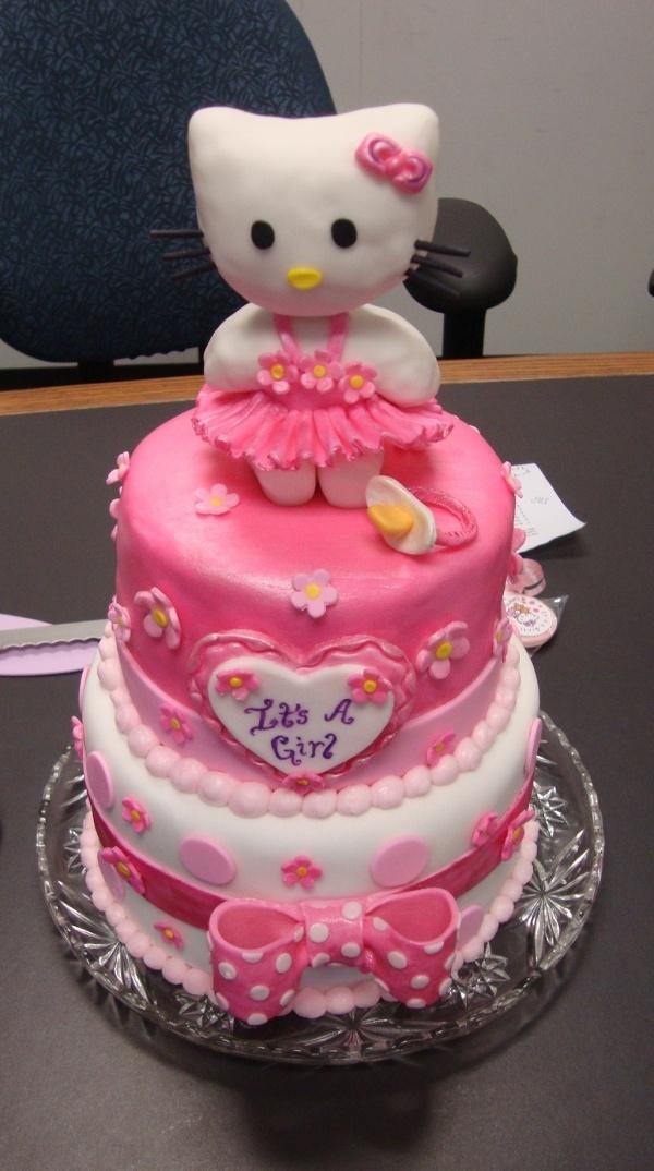 Amazing Hello Kitty Baby Shower Cake Part - 8: My Hello Kitty Baby Shower Cake