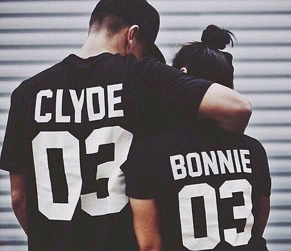 Bonnie Clyde Tshirts with Custom Numbers
