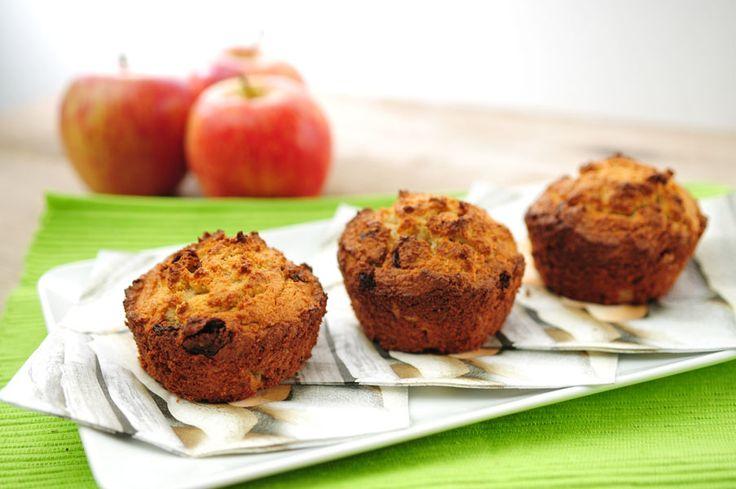 Appelcupcake  - bakpoeder vervangen door wijnsteenbakpoeder of baksoda