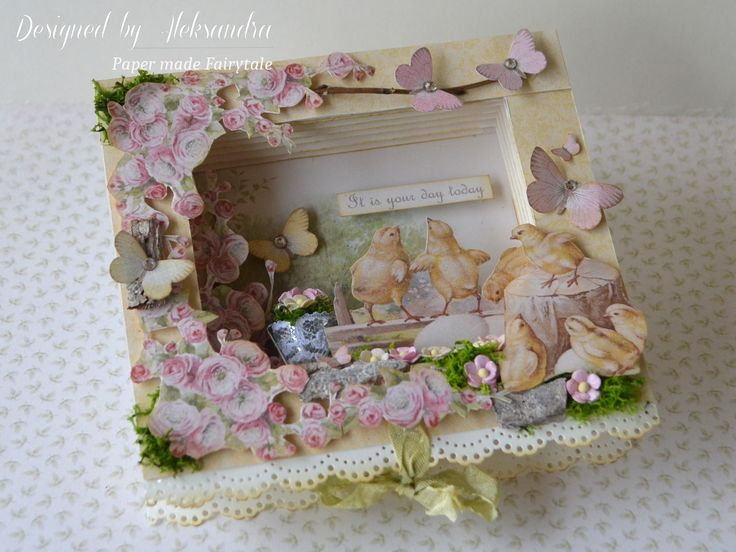 Shadow box Book card made with Easter collection.