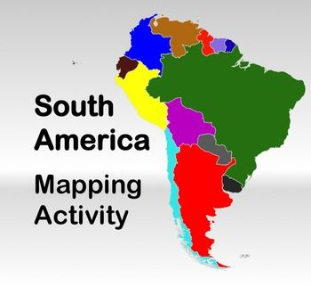 Map Activity – South America - In this activity, students must locate and identify the countries (and capital cities if so desired) of South America. Included in this package is a ready-to-copy blackline master map of South America along with a separate answer key.    Also included are PowerPoint slides of the continent so that answers can be shared and discussed. $