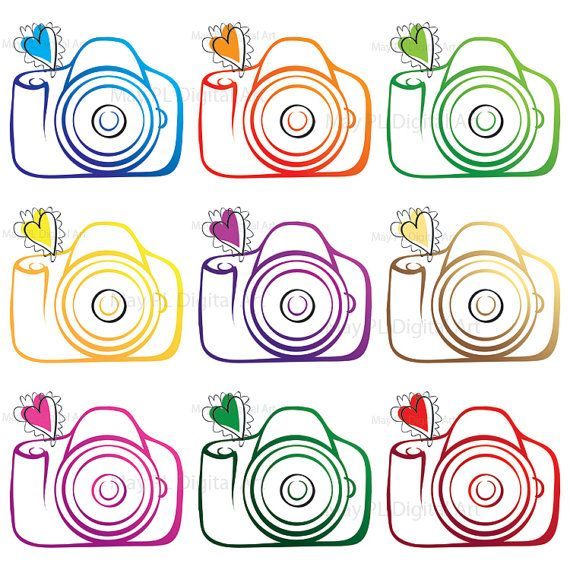 Digital Clip Art Clipart Camera Photographer Photography Logo Elements Scrapbooking Supplies Photo Personal Small Commercial Use 10208
