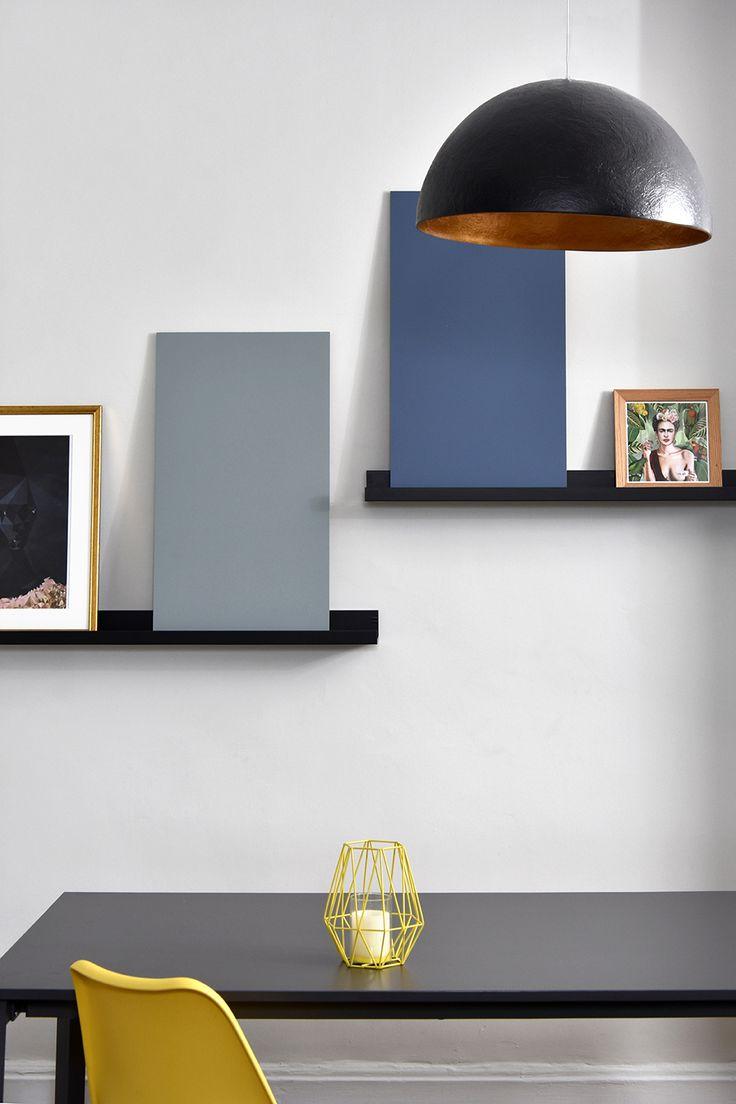 Ambiance déco 2018 MAXI minimalisme. Bienvenue ! Peinture Sign'Nature Bleu et Gris