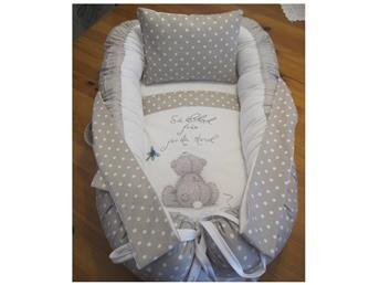 Babynest med handtag+ Nappficka+ täcke, kudde, hemsytt!