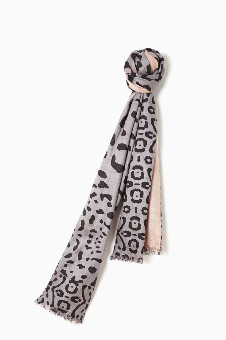 Leopard Print Contrasting Shawl - city muse | Adolfo Dominguez shop online