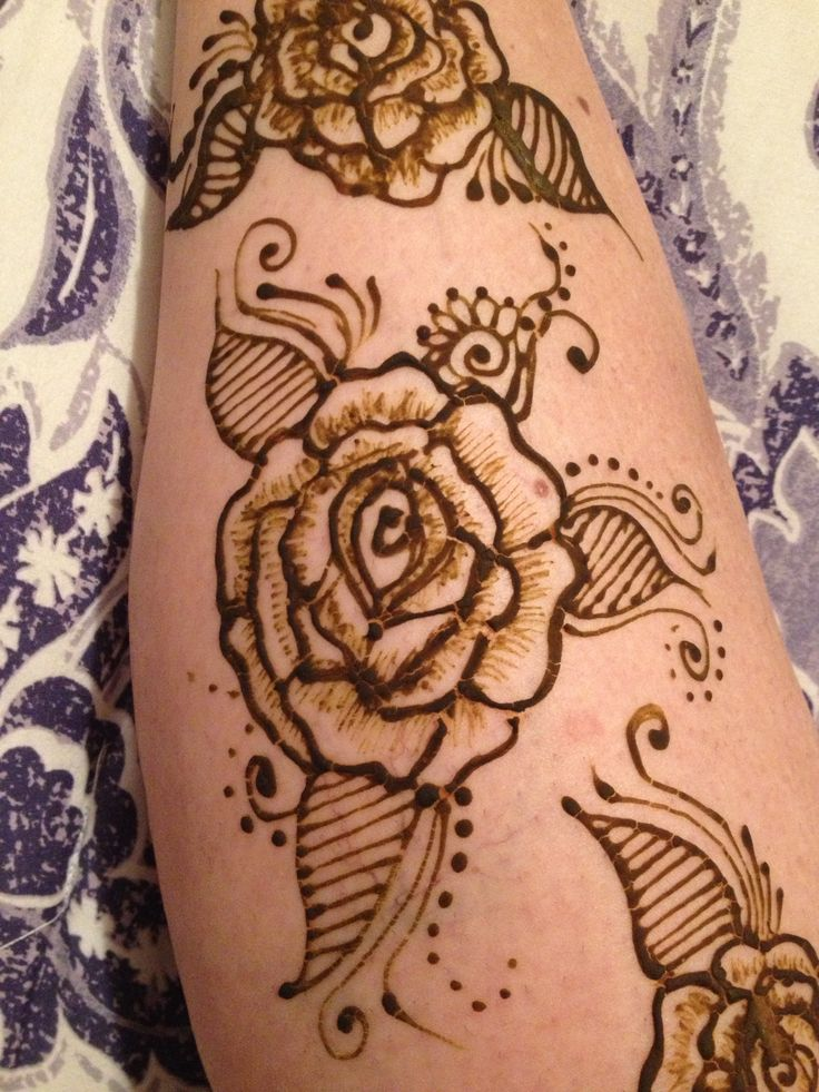 Rose Henna Tattoo Designs On Wrist Small: Henna And Roses On Pinterest
