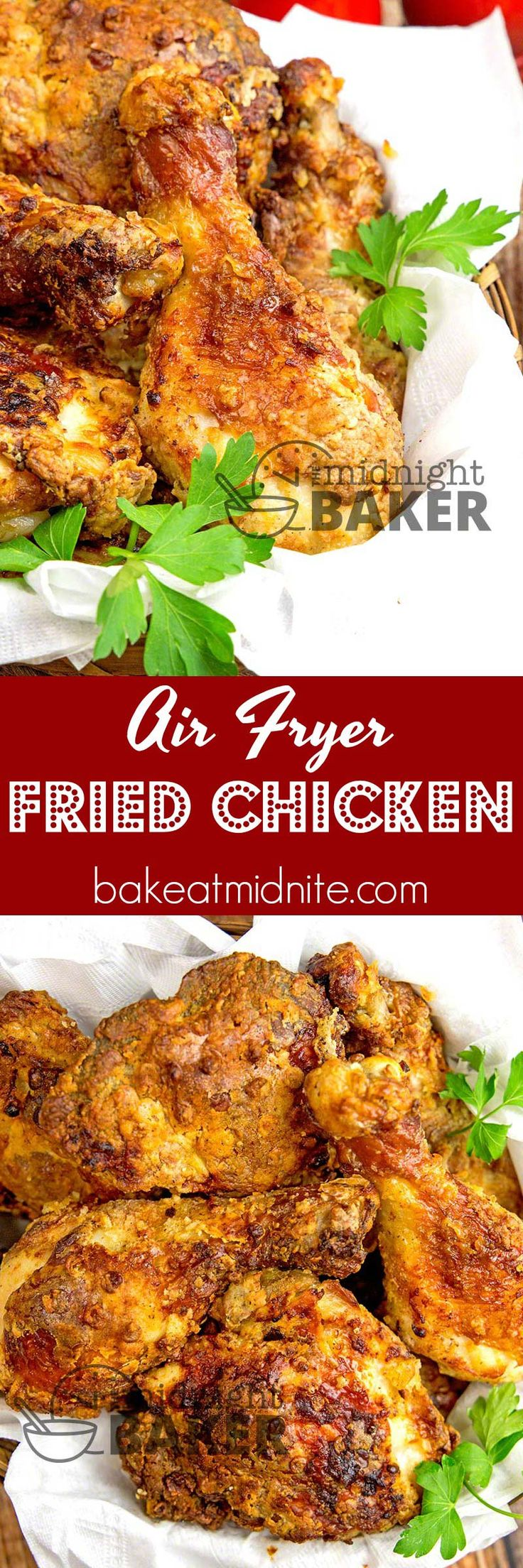 The crispiest fried chicken you'll ever eat. Hardly uses any fat using an air fryer.#chicken #airfryer #lowfat #healthy