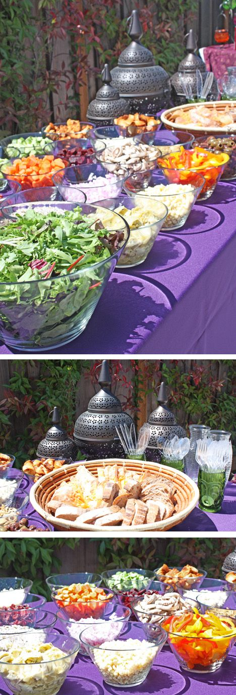 Oh Baby! Shower Decor...the blog: Real Party: Moroccan Baby Shower    I love the salad bar!