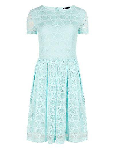 Textured Circle Skater Dress | M&S
