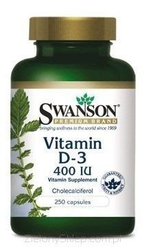 SWANSON Vitamin D3 400 IU x 250 capsules