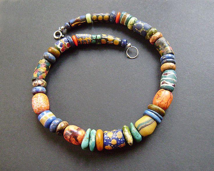 Magiczna kolorowa kolia w artkatalina -  biżuteria artystyczna na DaWanda.com