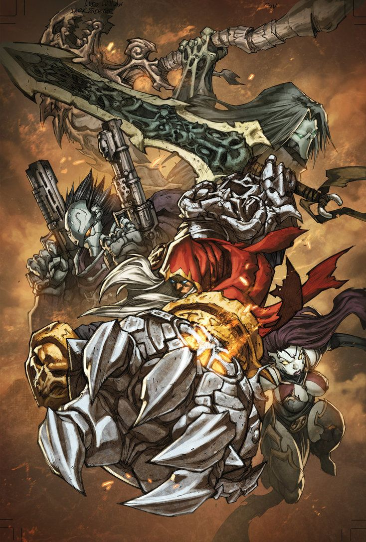 Hey Guys! Here is the cover to the Darksiders Comic. It was drawn by the amazing Ludo Lullabi ludolullabi.deviantart.com/ and colored by me hope you like it! ------ Commissions now open! send me a ...