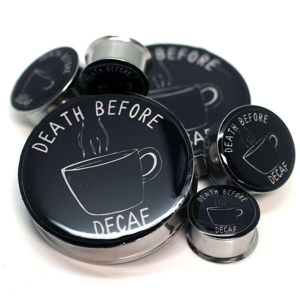 Death Before Decaf | Bodyjewelrysource.com