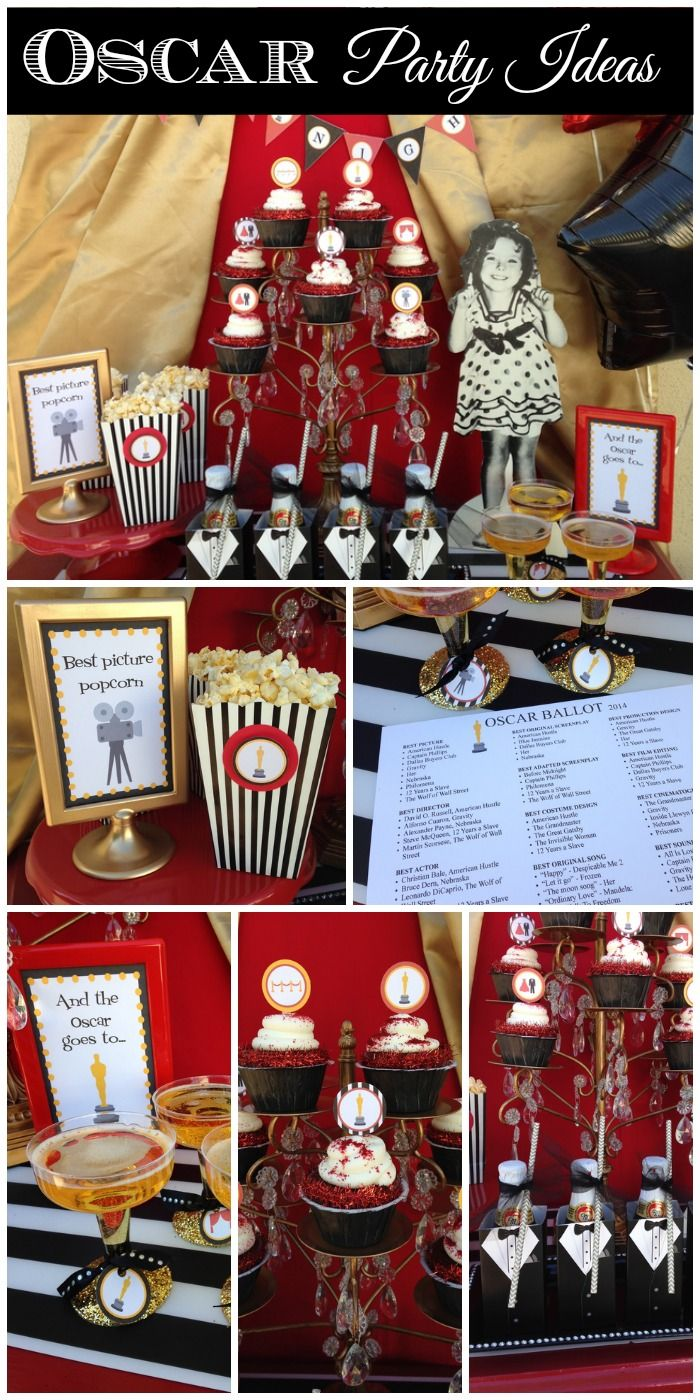 Who needs Oscar party ideas? See more party ideas at CatchMyParty.com. #academyawards #oscars