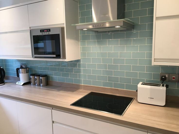 Kitchen Splashback - Glass Metro Tiles UK https://www.too-jazzy.com/glass-metro-tiles/