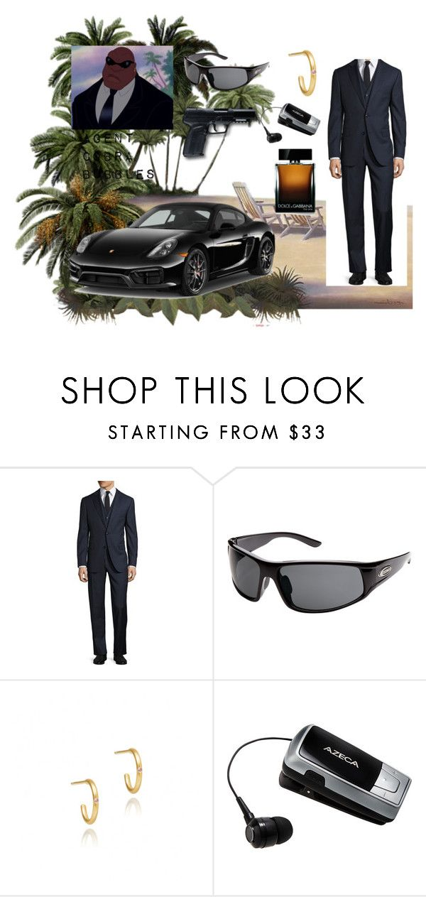 """""""Agent Cobra Bubbles"""" by aalittles ❤ liked on Polyvore featuring Pal Zileri, SunCloud Polarized Optics, Porsche, All Black, Dolce&Gabbana, men's fashion and menswear"""