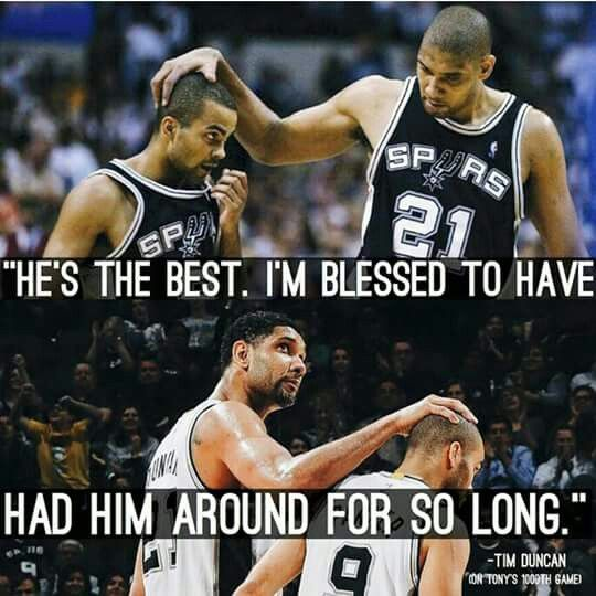 Spurs Tim Duncan & Tony Parker. Go Spurs Go