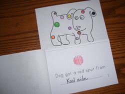 Emergent Reader for the book, Dogs Colorful Day.
