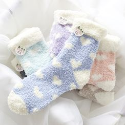 Ganki - Heart Coral Fleece Socks