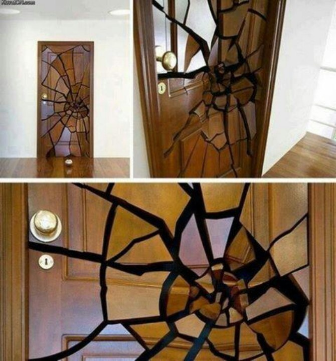 cool door designs. Funny Pictures About Creative Shattered Door Design. Oh, And Cool Pics Also, Design Photos. Designs