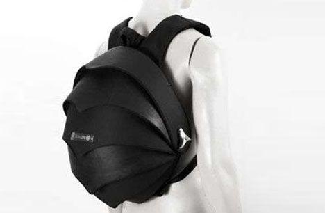 hard rubber backpack design  Looks like something Batman would use!