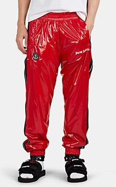 b6559049420a4 Moncler Striped Lacquered Jogger Pants | Moncler Genius | Barneys NY ...
