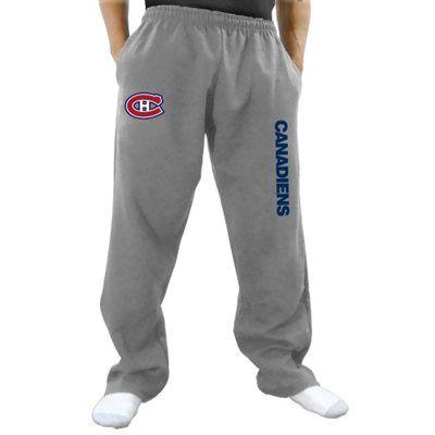 Montreal Canadiens Gray Fleece Pants