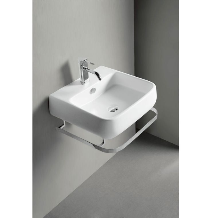 Soncera Vista Wash Basin With SS Stand Of 505 X 455 X 150 MM In White