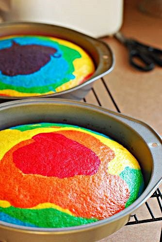 RAINBOW CAKE! so freaking cool