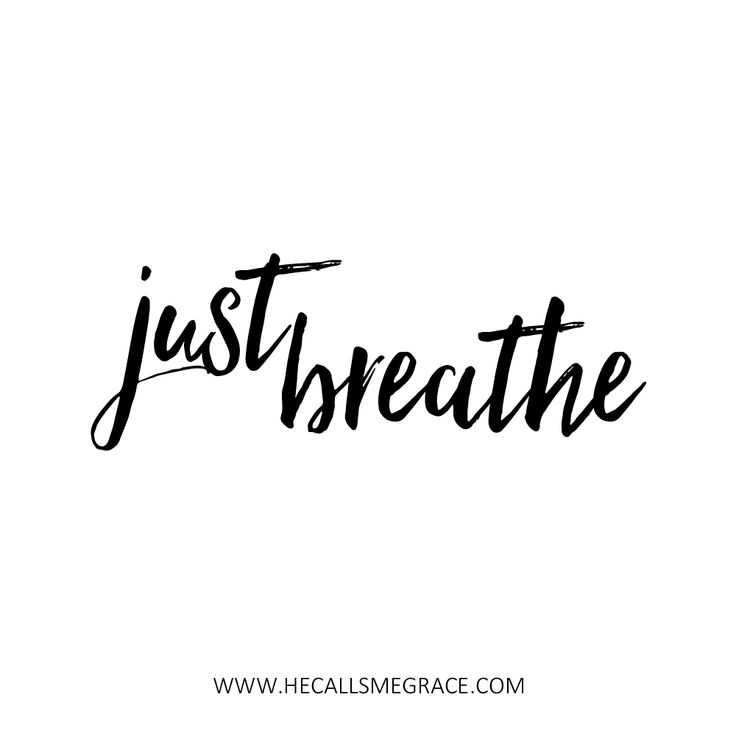 Just Breathe quote with awesome lettering fonts!