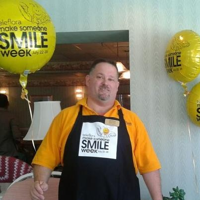 Steve is our Manager at our Downtown Norfolk Store at 211 Granby Street. He is all smiles all the time. Thank Steve for taking the time to design and deliver these balloons and smiley face mugs of flowers for National Smile Week.