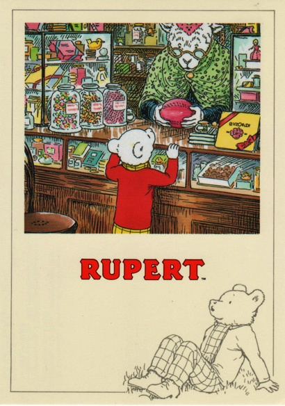 Rupert Bear is a children's comic strip character created by English artist Mary Tourtel first appearing in the Daily Express newspaper in 1920. His initial purpose was to win sales from rival papers.The comic strip was, & still is, published daily in the Daily Express, with many stories later being printed in books, & every year since 1936 a Rupert annual has also been released. Rupert Bear has become a well-known character in children's culture in the UK & has led to several TV series.