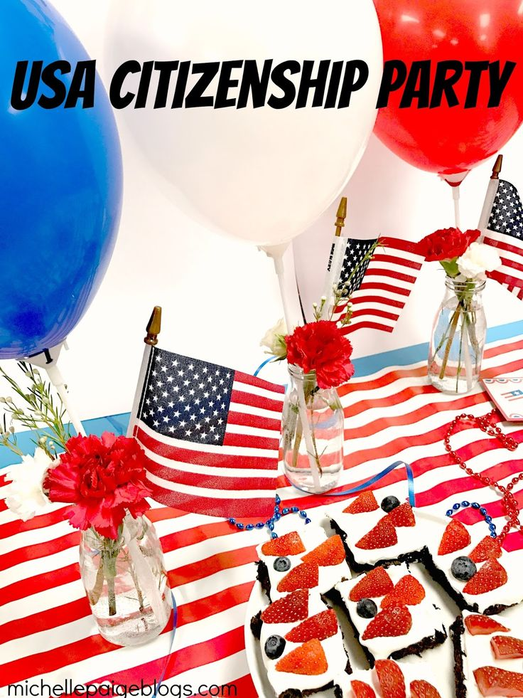 USA Citizenship Party Ideas @michellepaigeblogs.com