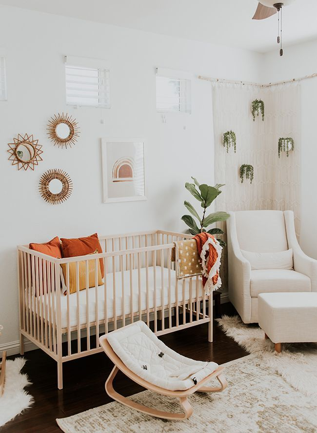 Modern Neutral Nursery Full Of Plants Baby Room Design Nursery