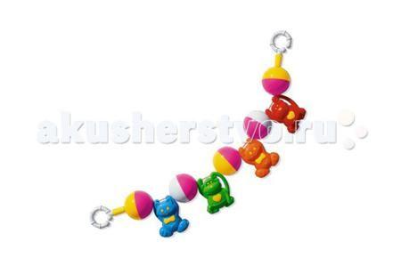 Стеллар Подвеска на коляску 01518  — 190р. ---------------------  Подвесная игрушка Стеллар на коляску 01518 привлечет внимание вашего крохи и развеселит его во время прогулки. Она состоит из 4 разноцветных зверушек и 5 шариков, соединенных между собой в виде гирлянды.  Особенности: Подвеска предназначена для крепления на коляску  Она способствует развитию у малыша цветового восприятия и умения фокусировать взгляд на движущихся объектах Подвеска сделана из высококачественной пластмассы