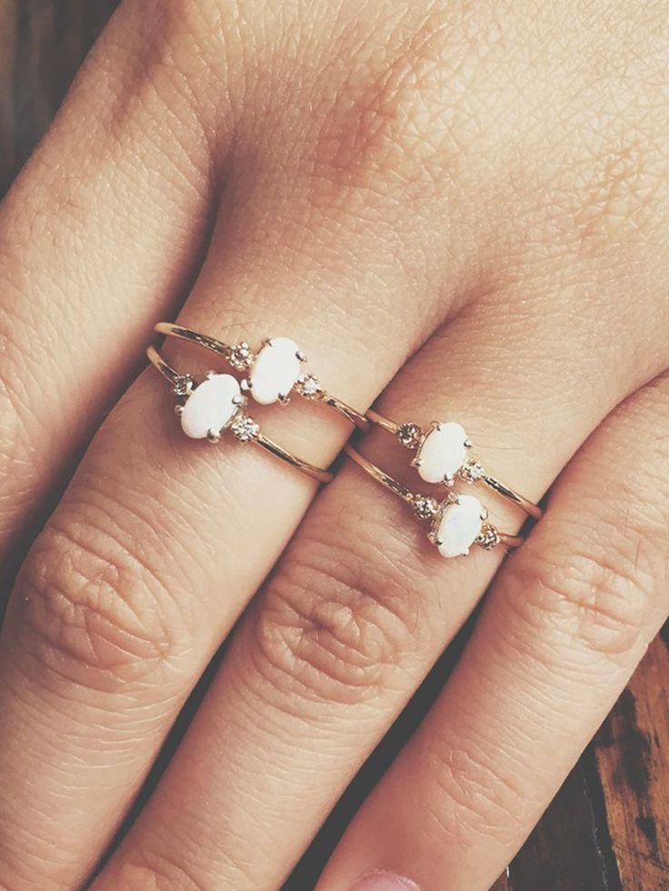Theresa M. Lee Allison Ring Opal Diamonds