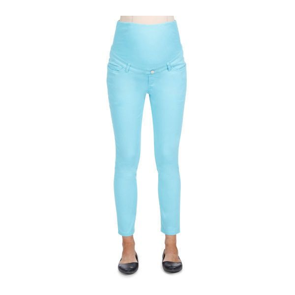 Ripe Maternity Women's Crop Pant (1.415 RUB) ❤ liked on Polyvore featuring pants, capris, cropped capri pants, cropped trousers, blue trousers, cropped pants and blue pants