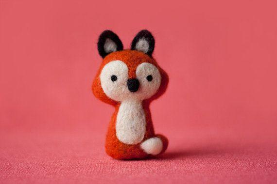 Jake Needle Felted Fox by MiloandBen on Etsy, $31.00