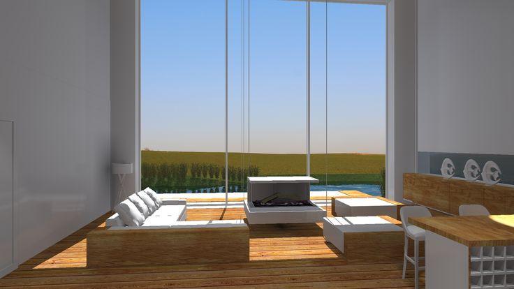 Projekt domu jednorodzinnego-widok na salon