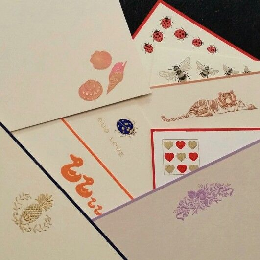 Some of our boxed stationery engraved motifs