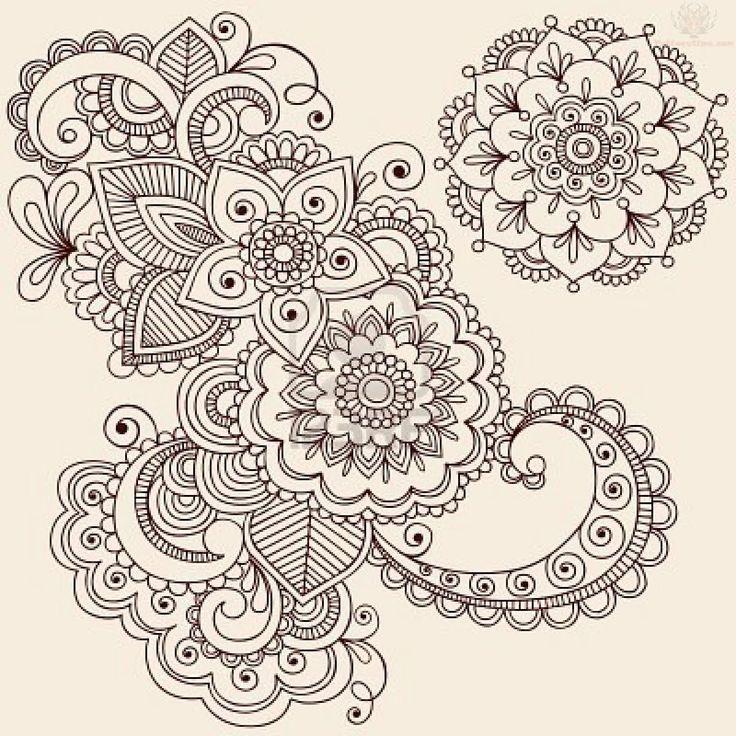 Paisley Tattoo | Flowers Paisley Pattern Tattoo Designs