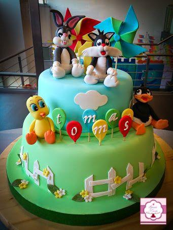 Torta Looney Tunes Spazio Torta Amp Arte Pinterest