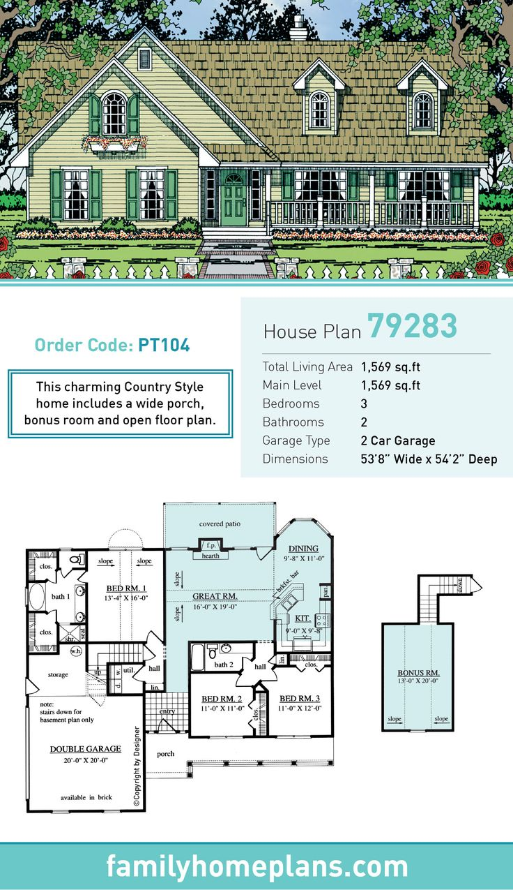 58 best images about country house plans on pinterest for Country house plans with open floor plan