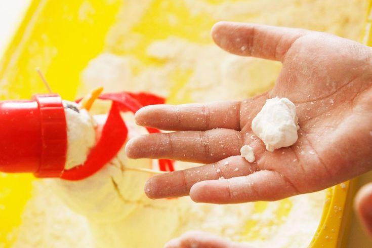Cómo hacer nieve artificial casera para jugar – Mumuchu